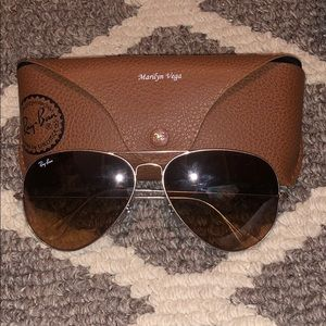 Ray Ban Bronze Gold Aviator Large